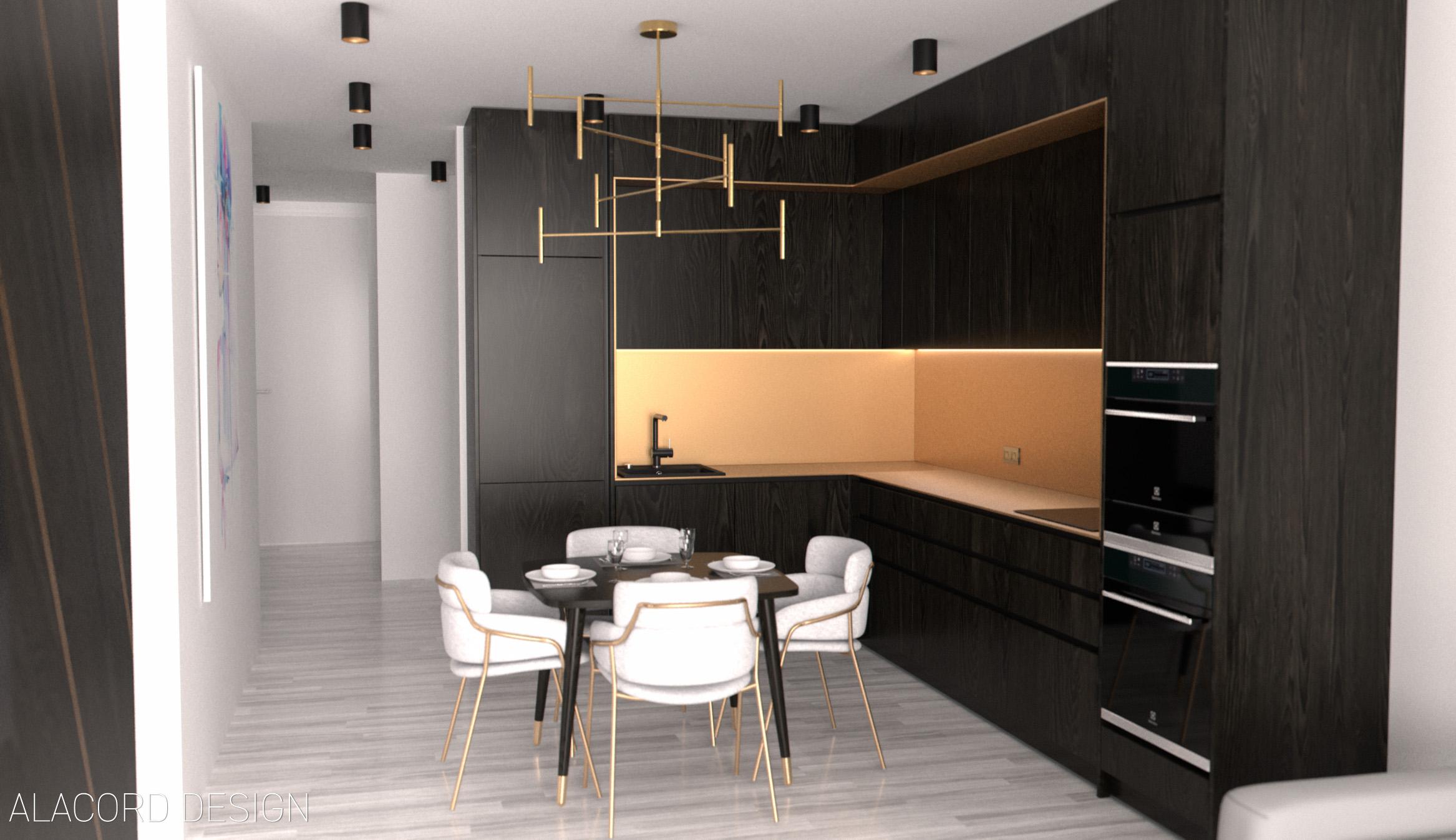 Alacord bronz barna fekete fa réz konyha