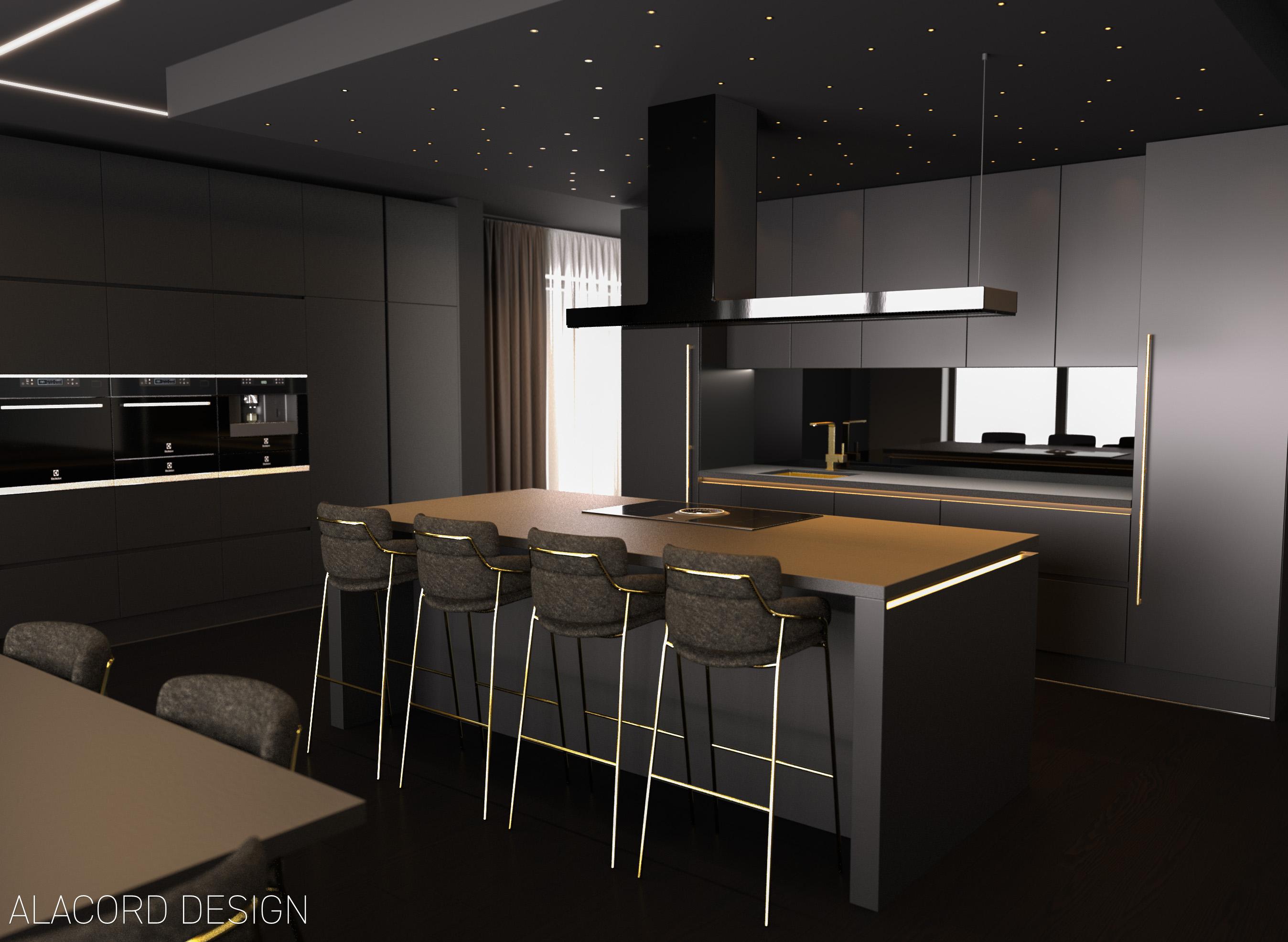 Alacord carbon sötét szürke fekete konyha