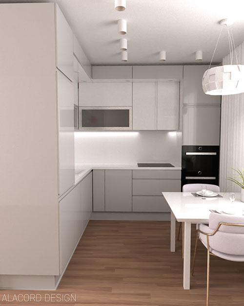 Alacord fehér szürke magasfényű konyha