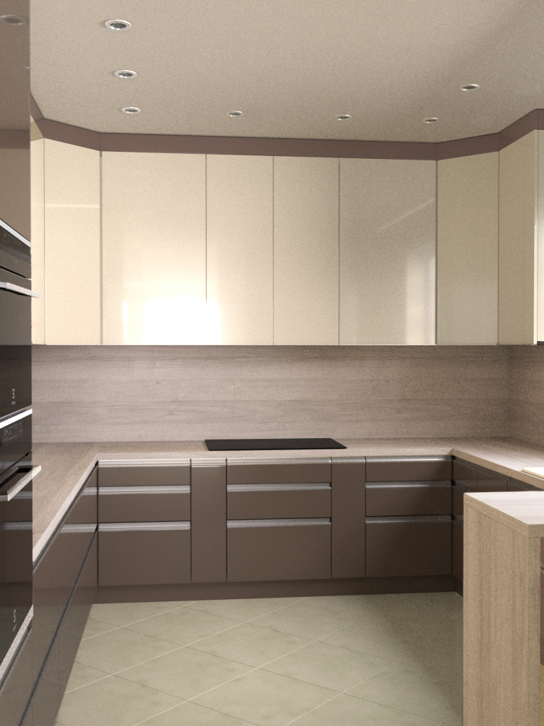 Alacord bézs magasfényű konyha